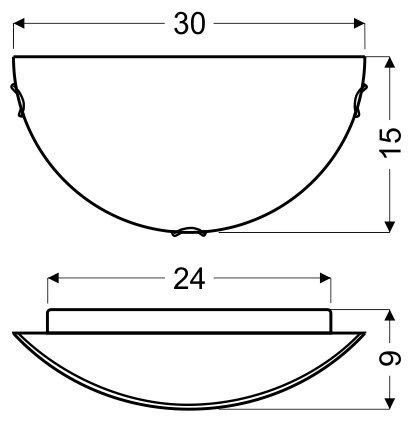 MILEA PLAFON 1/2 1X60W E27