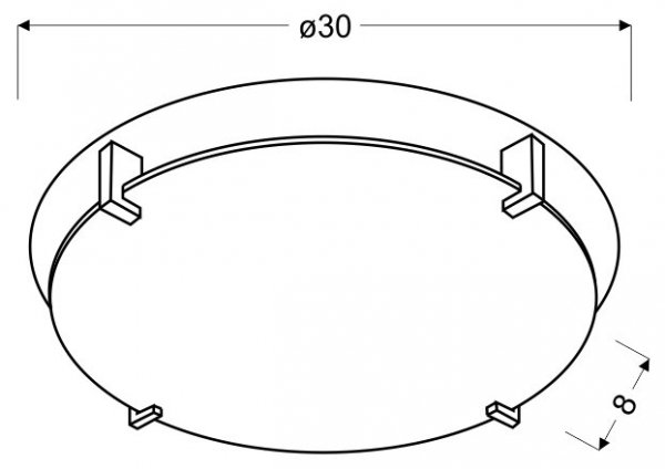 FIKUS PLAFON 30 1X60W E27 CHROM
