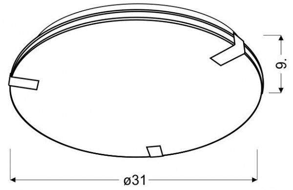 NOBLE PLAFON 31 2X60W E27
