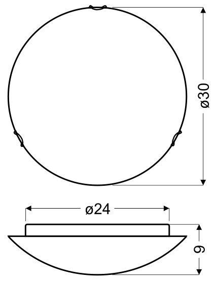 VENTA PLAFON 30 1X60W E27