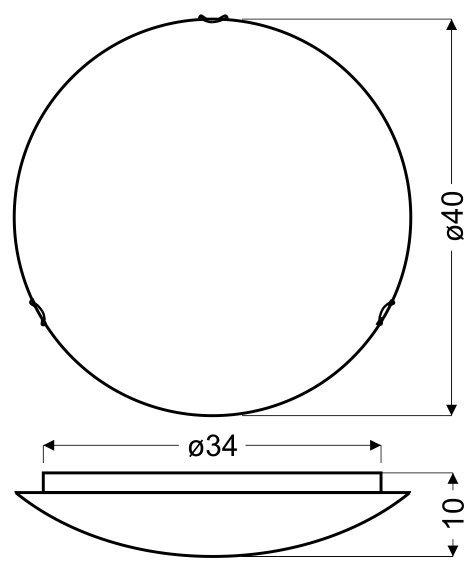 EDGAR PLAFON 40 2X60W E27