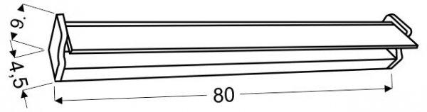 BATIK LISTWA LED 80 CM 14W STAL NIERDZEWNA