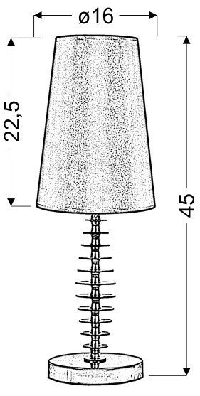 FUNDI LAMPKA 1X60W E27 CZARNA