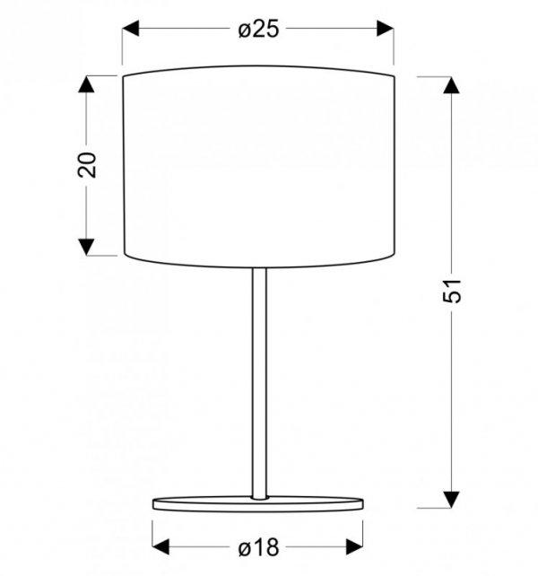 ARKAS LAMPKA 1X60W E27