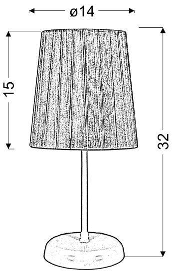 RIFASA LAMPKA GABINETOWA 1X40W E14 CZARNY