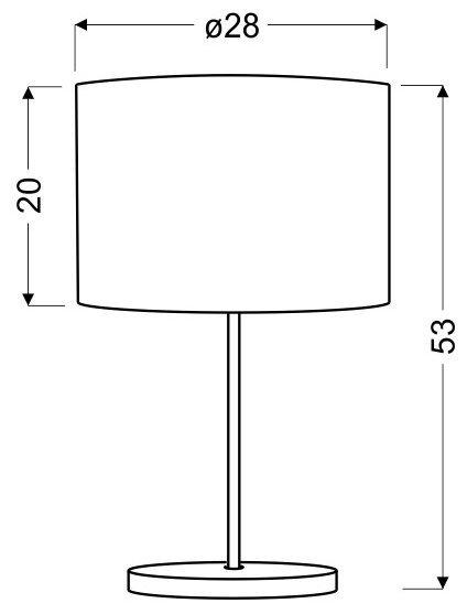 MANHATTAN LAMPKA GABINETOWA 1X60W E27