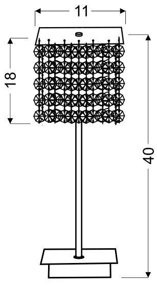 CLASSIC LAMPKA GABINETOWA 1X40W G9 CZERWONA