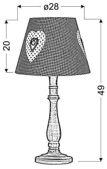 SWEET 1 LAMPKA GABINETOWA 1X40W E14 RÓŻOWA