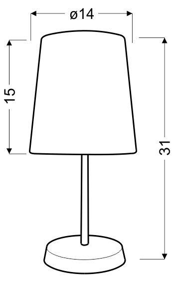 GALA LAMPKA 1X40W E14 POMARAŃCZOWA W KROPKI