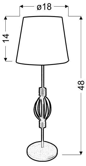 ROSETTE 2 LAMPKA GABINETOWA 1X40W E14 AB. POMARAŃCZOWY