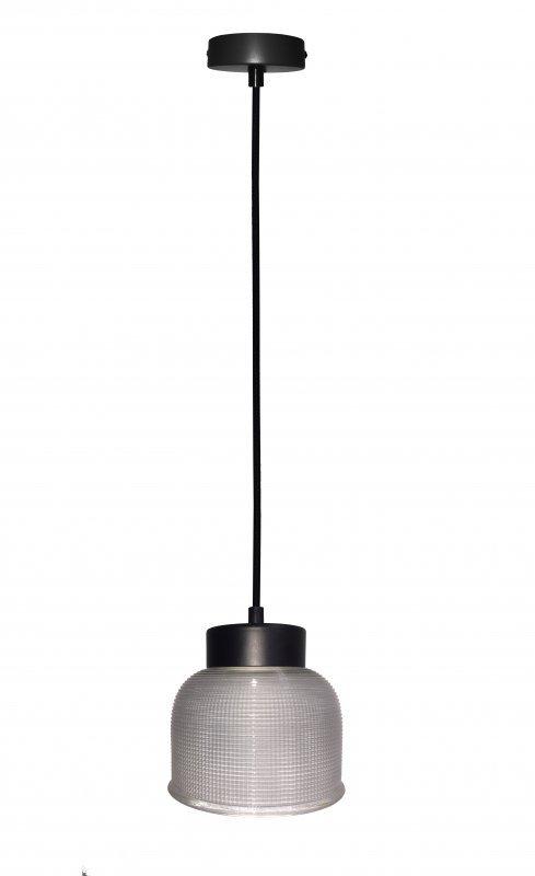 LIVERPOOL LAMPA WISZĄCA 1X40W E27 PRZEŹROCZYSTE SZKŁO, CZARNY KABEL