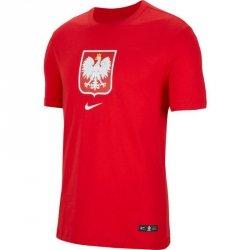 Koszulka Nike Poland Tee Evergreen Crest CU9191 611 czerwony S