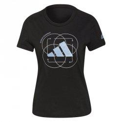 Koszulka adidas Run Logo W 2 GV1350 czarny M