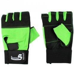 Rękawice na siłownie spendex zielono-czarne S8025 zielony XXL