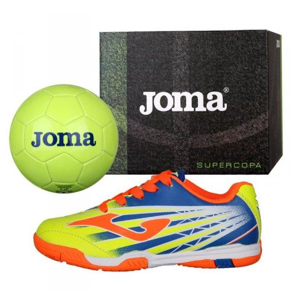 Buty Joma Super Copa JR in SCJS.911.IN + Piłka Gratis żółty 32