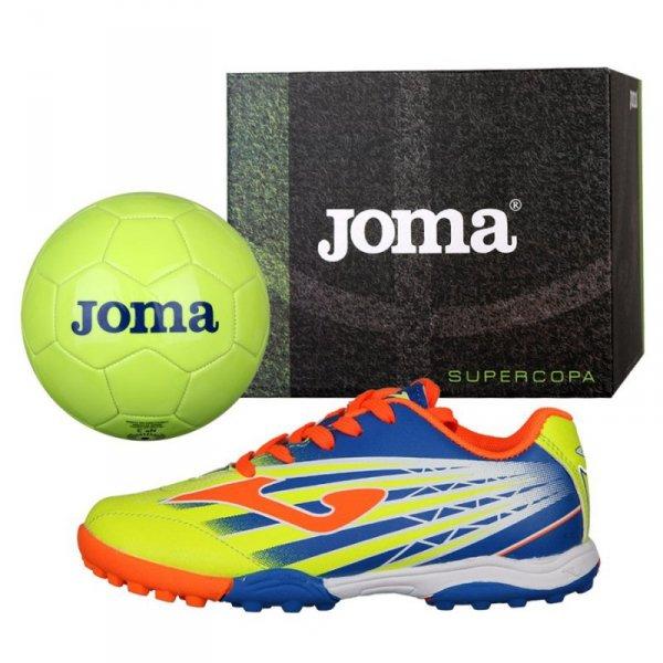 Buty Joma Super Copa JR TF SCJS.911.TF + Piłka Gratis żółty 28