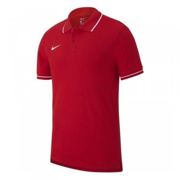 Koszulka Nike Polo Y Team Club 19 AJ1546 657 czerwony S (128-137cm)