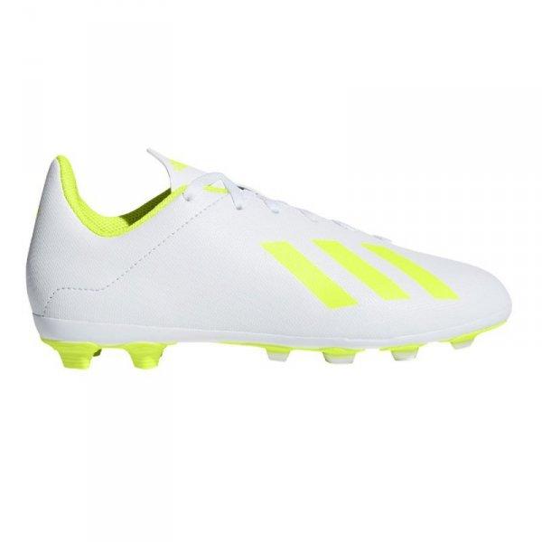 Buty adidas X 18.4 FxG J BB9380 biały 36