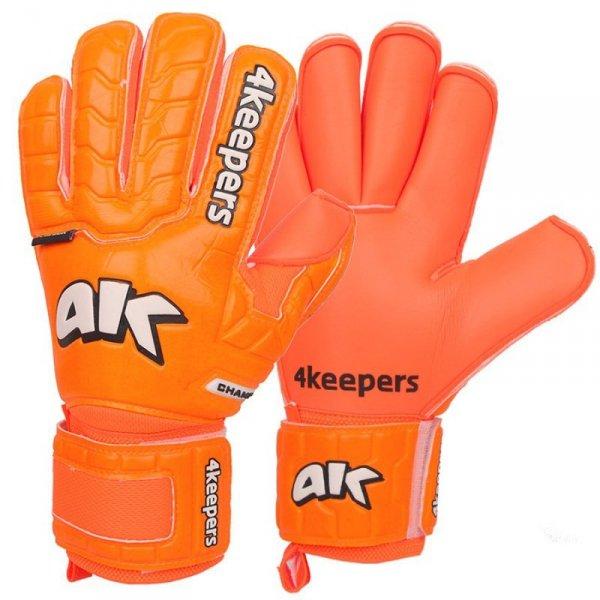 Rękawice 4keepers Champ Colour Orange IV RF + płyn czyszczący pomarańczowy 11