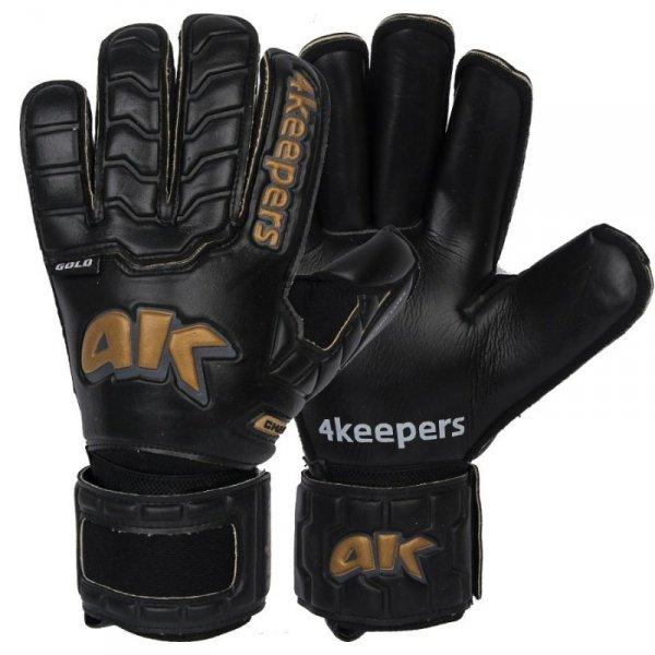 Rękawice 4keepers Champ Black Gold IV RF + płyn czyszczący czarny 10