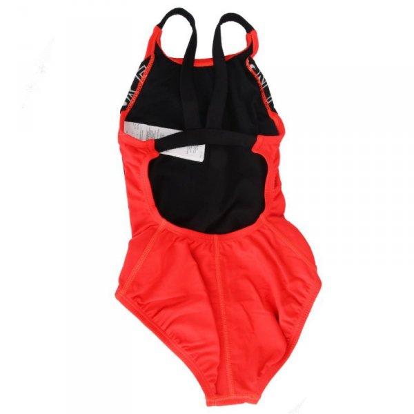 Kostium kąpielowy Nike Logo Tape Fastback YG NESSB758 631 XL (160-170cm) czerwony