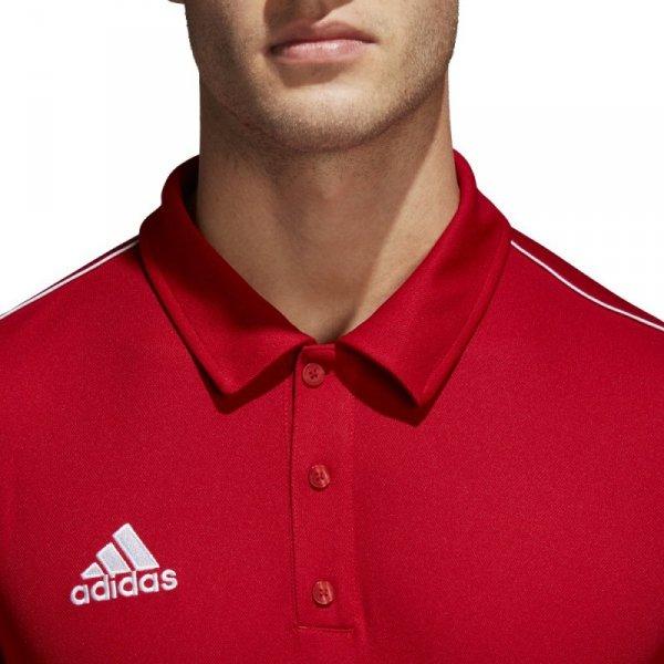 Koszulka adidas Polo Core 18 CV3591 czerwony M