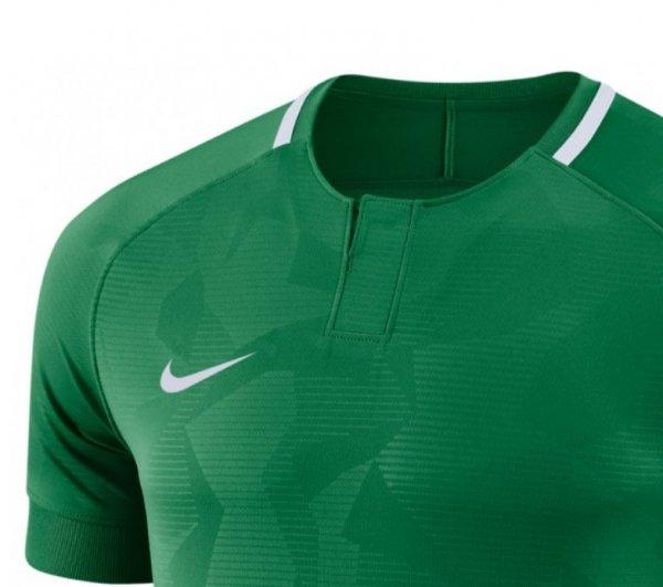 Koszulka Nike Y NK Dry Chalang II JSY SS 894053 341 zielony XL (158-170cm)