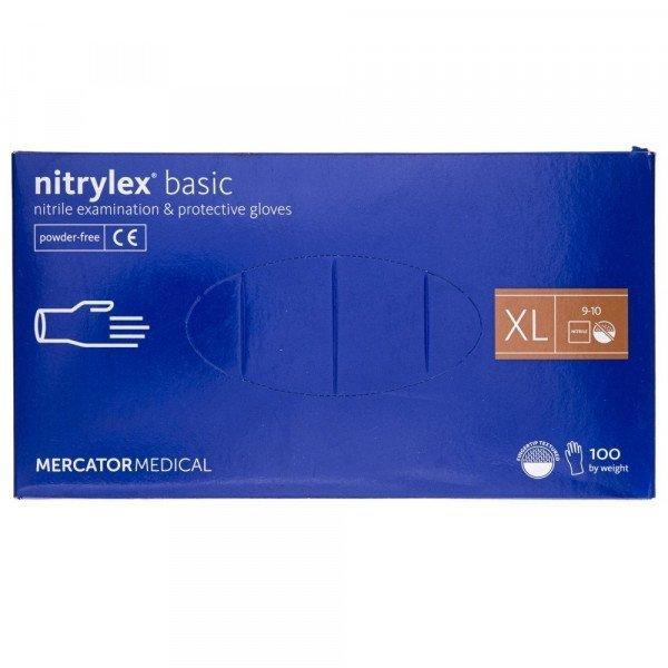 """NITRYLEX BASIC """"XL"""" RĘKAWICE BEZPUDROWE A100"""