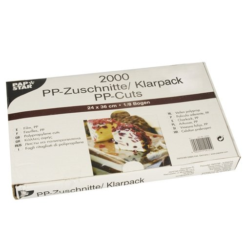 PAPSTAR ARKUSZE PP 36x24 TRANSPARENTNE A2000