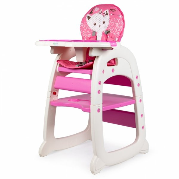 Fotelik do karmienia 2w1 pink ECOTOYS