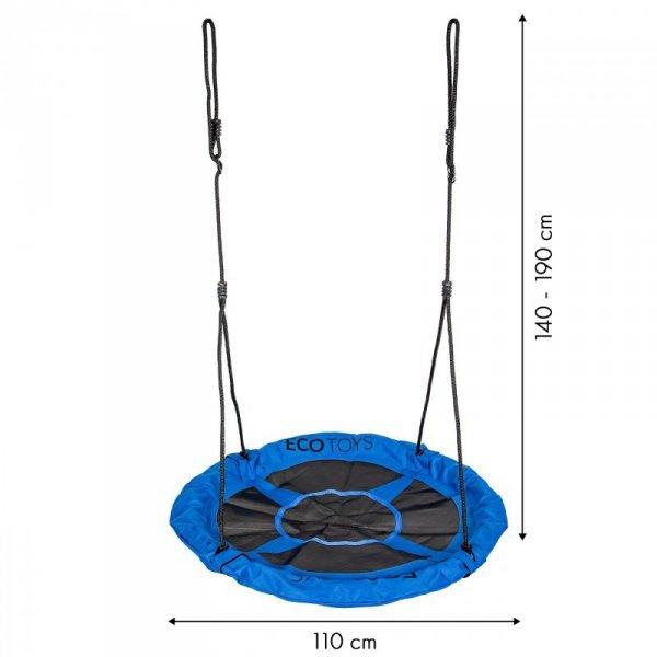 Huśtawka ogrodowa bocianie gniazdo 110cm Ecotoys