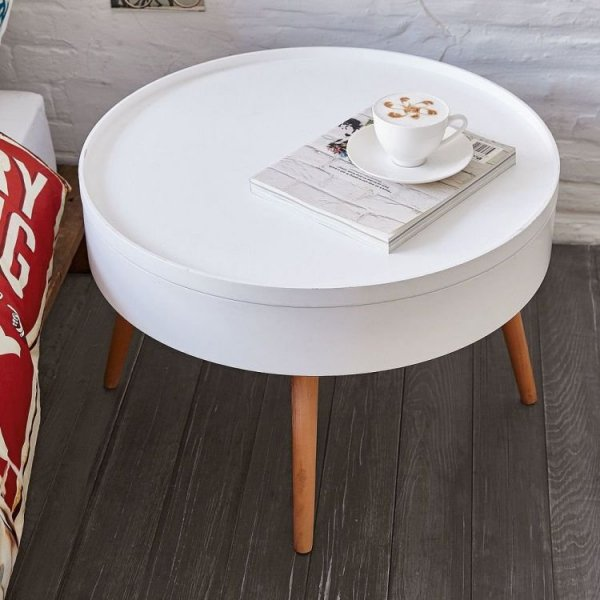 Stolik kawowy okrągły ze schowkiem 60cm