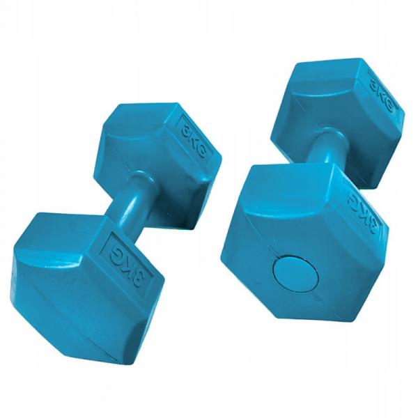 HANTELKI HANTLE 6kg ZESTAW CIĘŻARKI 2x 3kg FITNESS