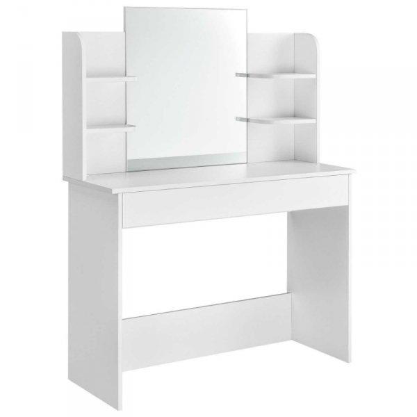 Toaletka kosmetyczna nowoczesna duże lustro półki ModernHome