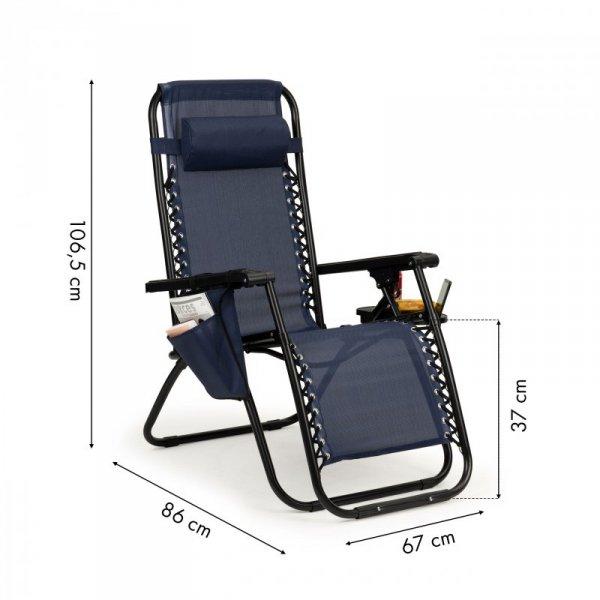 Leżak fotel ogrodowy plażowy składany zero gravity