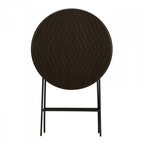 Stolik kawowy składany stół ogrodowy rattan 60cm