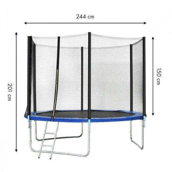 Trampolina ogrodowa 244cm/8ft z drabinką