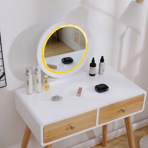 Toaletka kosmetyczna podświetlane lustro taboret