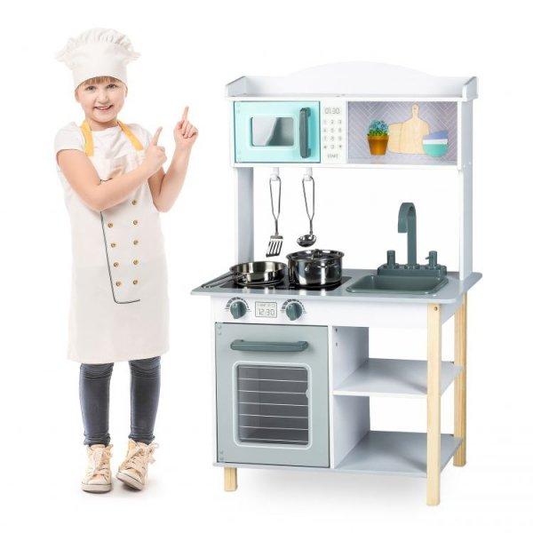 Drewniana kuchenka + zestaw akcesoriów  Ecotoys