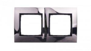 Simon 54 Premium Ramka podwójna metalowa ciemna stal DR2/67