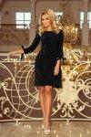 Sukienka z kokardkami Alice - Czarna - numoco 195-8