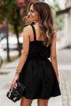Sukienka ANDI z wiązaniami na ramionach - Czarna_2