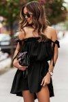 Sukienka ANDI z wiązaniami na ramionach - Czarna-4