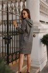 Swetrowa sukienka sportowa z kieszenią -  LSG132 - grafit-2