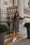 Swetrowa sukienka sportowa z kieszenią -  LSG132 - grafit-5