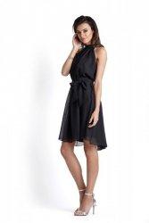 Zwiewna szyfonowa sukienka Livia - Czarna - Ivon