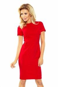 Sukienka Dorota  - elegancka - Czerwona - numoco 150-2