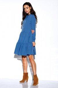 Sukienka z kokardą przy szyi kolor- StreetStyle L319