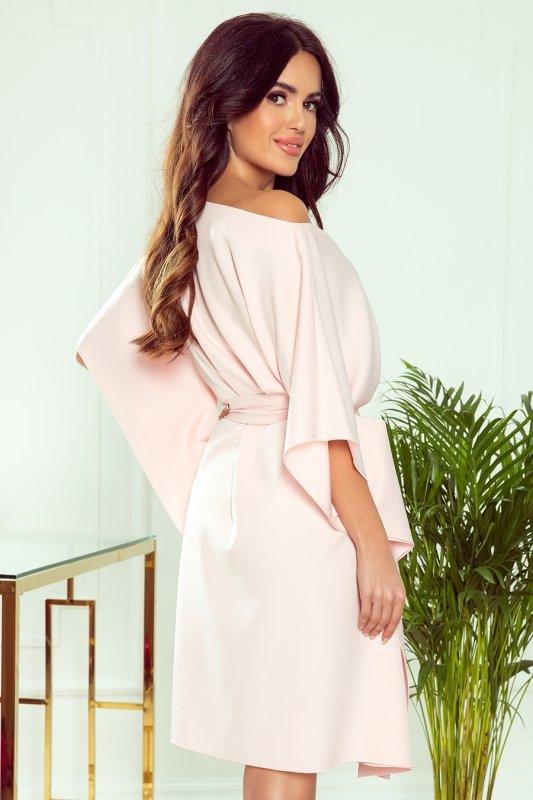 Sukienka motyl -SOFIA - PASTELOWY RÓŻ