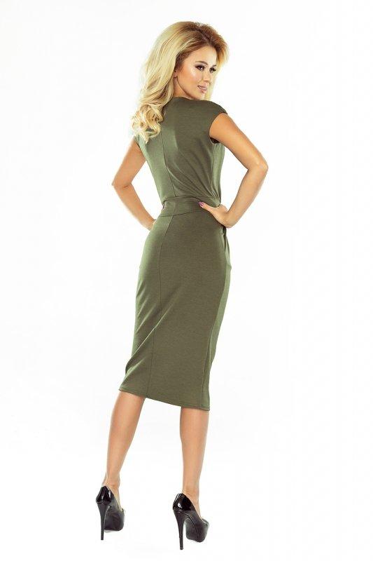 Sukienka midi Sara - Khaki - numoco - 144-5
